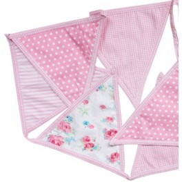 Fabric Bunting, Pink