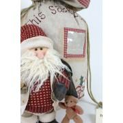 Santa & Teddy Linen Sack