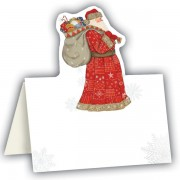 Place Cards x 8 Jolly Santa Design