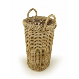Rattan Umbrella Stand with rolled top