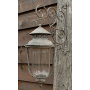 Glass Lantern with metal bracket