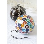 Christmas Tree Baubles 'Leaf' design