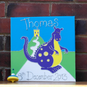 Personalised Canvas, Magic Dragon