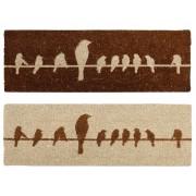 Birds on a wire coir Doormat