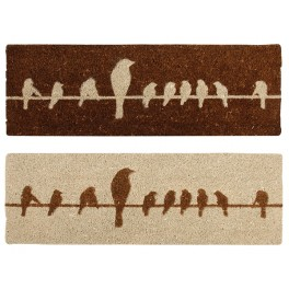 Birds on a wire coir Doormat