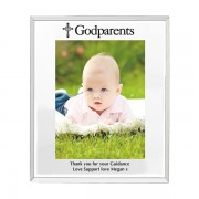 Godparents Mirrored Glass Photo Frame