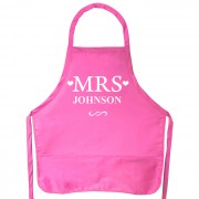 Personalised 'Mrs' Apron