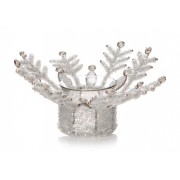 Beaded Snowflake Votive