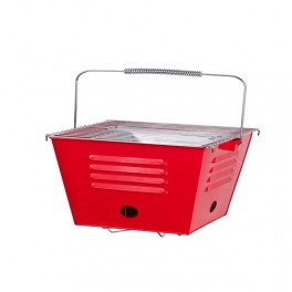 Portable Square Barbeque, Red