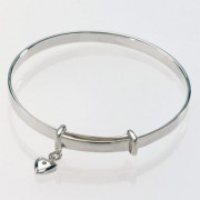 Baby's Bangle with Diamond Heart