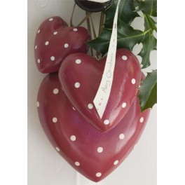 Red Spotty Heart - Small