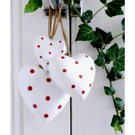 White Spotty Heart, Medium