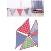 Fabric Bunting, Blue / Red