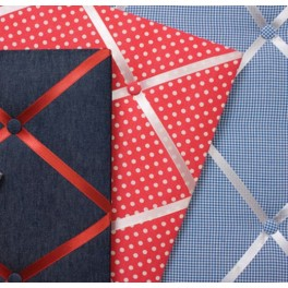 Fabric Message Board - Red Spotty