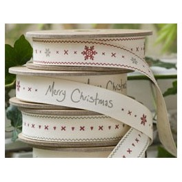 Rolls of Christmas Ribbon, A