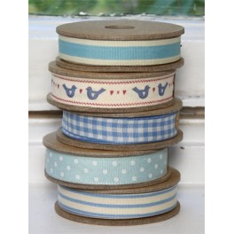 Rolls of Ribbon, Blue