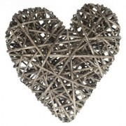 Large Filled Willow Heart