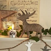 Carved Wooden 16cm Reindeer