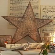 Carved Wooden Star 30cm