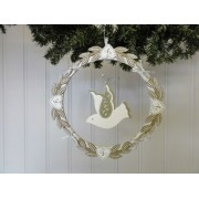 Olive or Red Dove Wreath