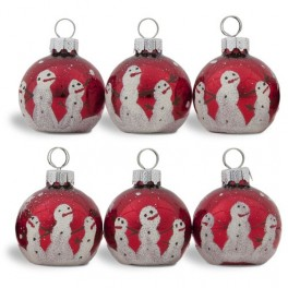 Set of 6 Snowmen Place Card Holders