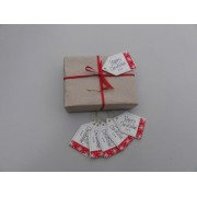 Wooden Christmas Parcel Tags x 6