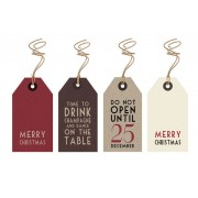 Christmas Parcel Tags x 6
