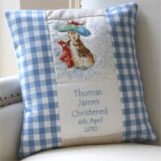 Beatrix Potter Birth and Christening Cushion