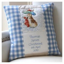 Beatrix Potter Birth and Christening Cushion