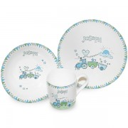 Personalised China Set - Train Bunting
