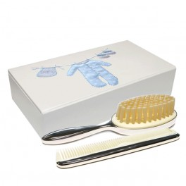 Silver Plated Brush & Comb Set