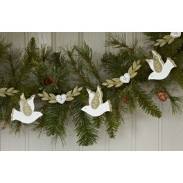 Dove and Swag Garland in red or olive