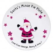 Personalised Santa Mince Pie Plate
