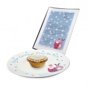 Personalised Snow Scene Plate and Letter