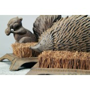 Cast Iron Boot Brush in either Squirrel or Hedgehog design