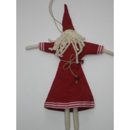 Santa Tree Decoration in linen