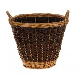 Traditional Wicker Log Basket