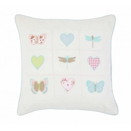 Butterfly & Hearts Cushion with feather pad