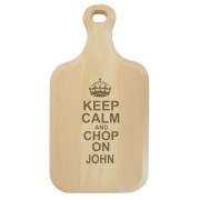 Personalised Keep Calm Paddle Chopping Board
