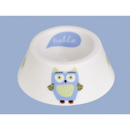 Owl Christening Egg Cup and Spoon