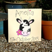 Personalised Canvas, Smiling Cow