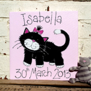 Personalised Canvas, Lucky Kitten