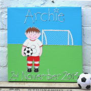 Personalised Canvas, Footballer