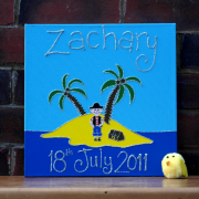 Personalised Canvas, Pirate Island