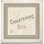 Wooden Christening Keepsake Box