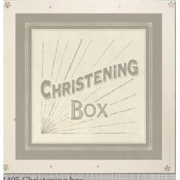 Wooden Christening Keepsake Box