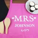 Personalised 'Mrs' Apron