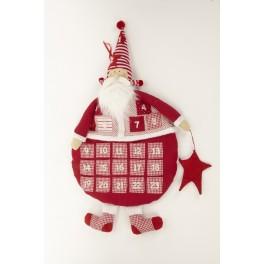 Jolly Fabric Advent Santa