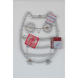 Owl Metal Christmas Card Holder