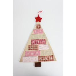 Hanging Fabric Advent Tree